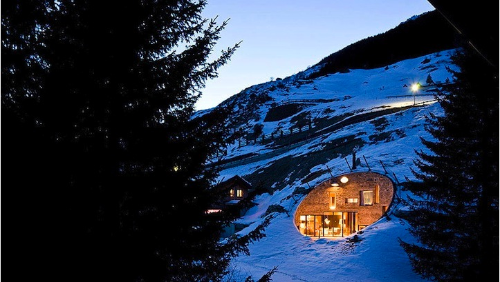 The Luxury Villa embedded into a Mountain | Messy Nessy Chic