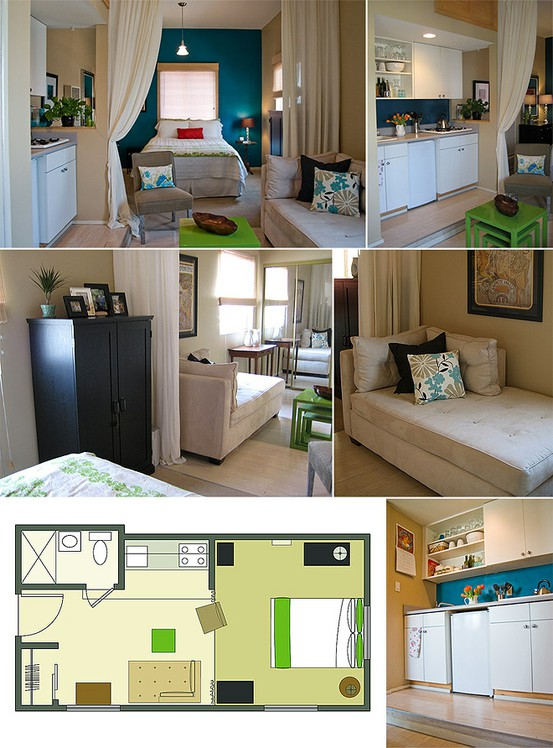 Small Studio Apartment Design Layouts
