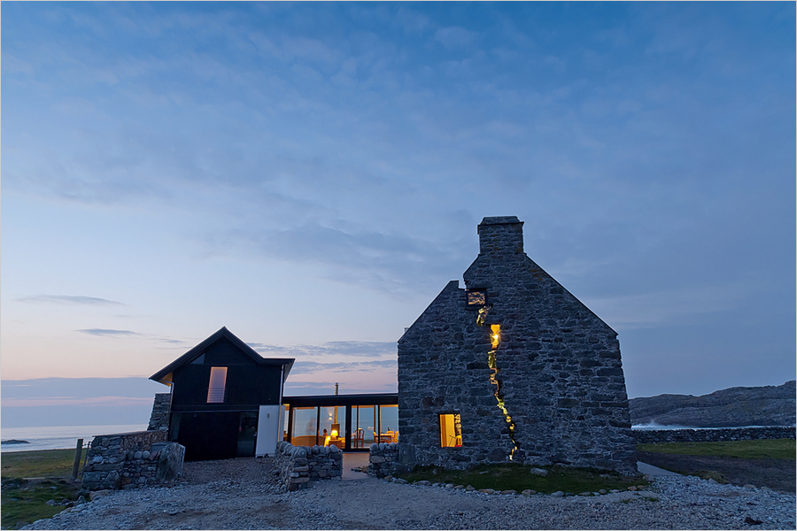 Modern Home Built Within A 150 Year Old Abandoned