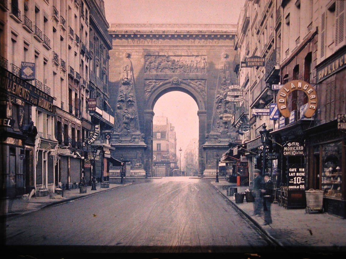 Color snapshots of paris in another era messy nessy chic - Monoprix boulevard saint germain ...